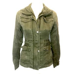 Hollister Army Green Utility jacket